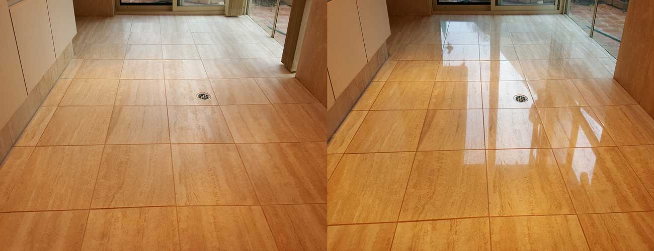 Honing and Polishing Travertine Tiles Perth