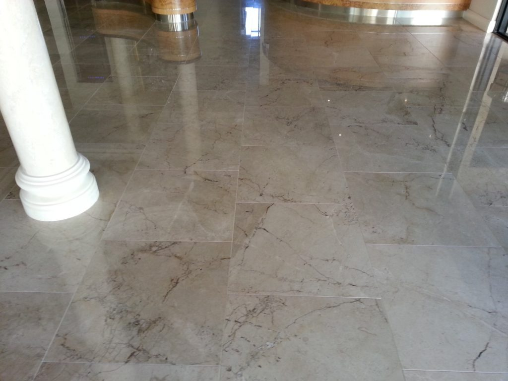 Limestone Floor Tile Restoration