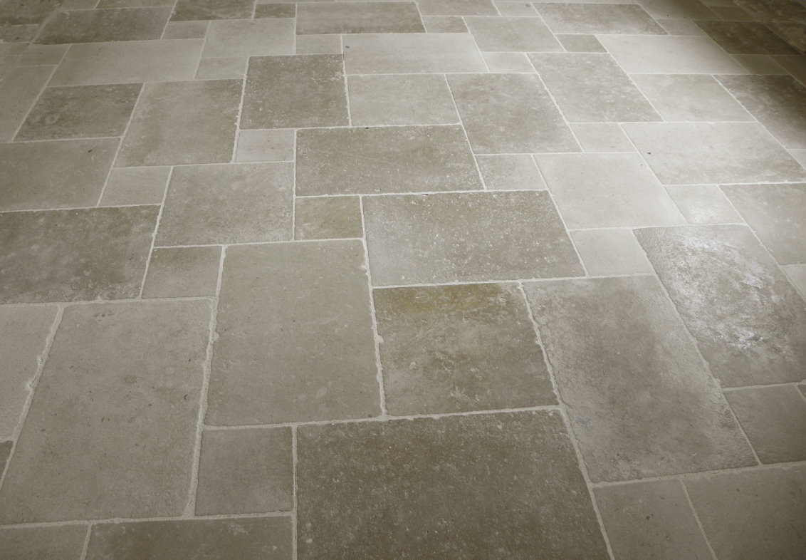 Limestone Floor Tile Restoration, Polishing, Honing, Cleaning, Sealing