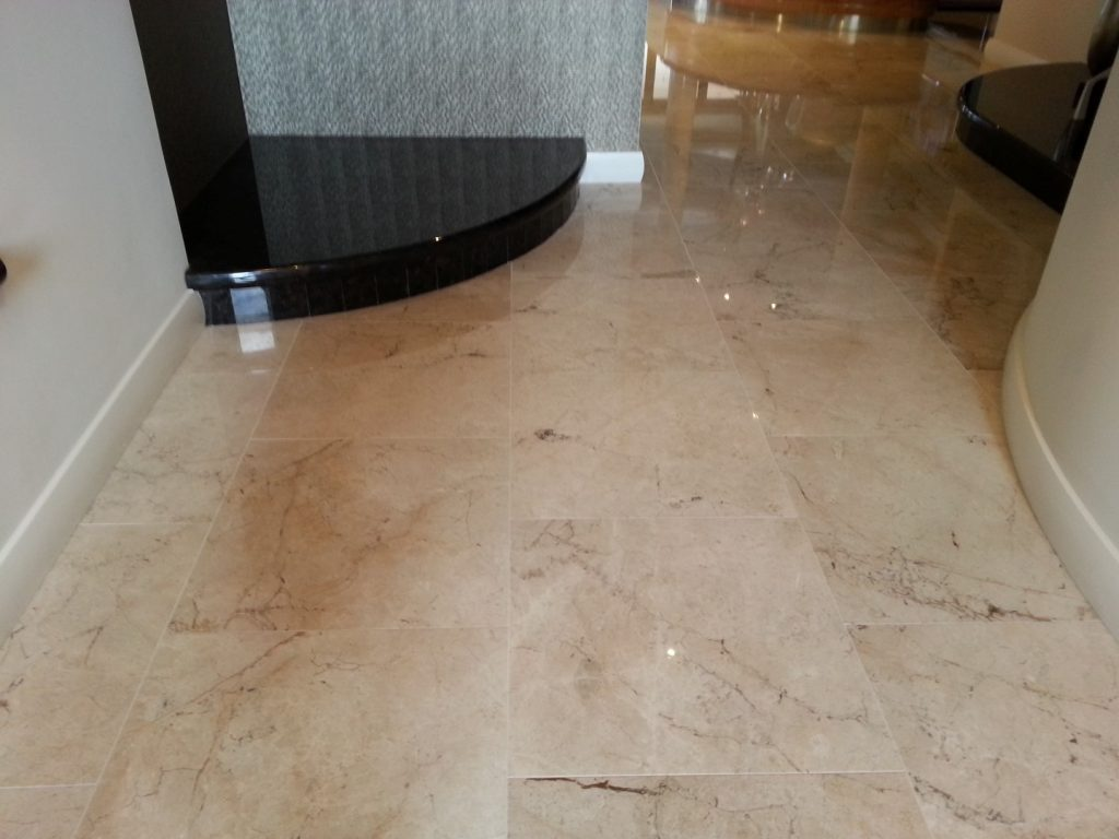 Honing and Polishing Limestone Tiles Perth