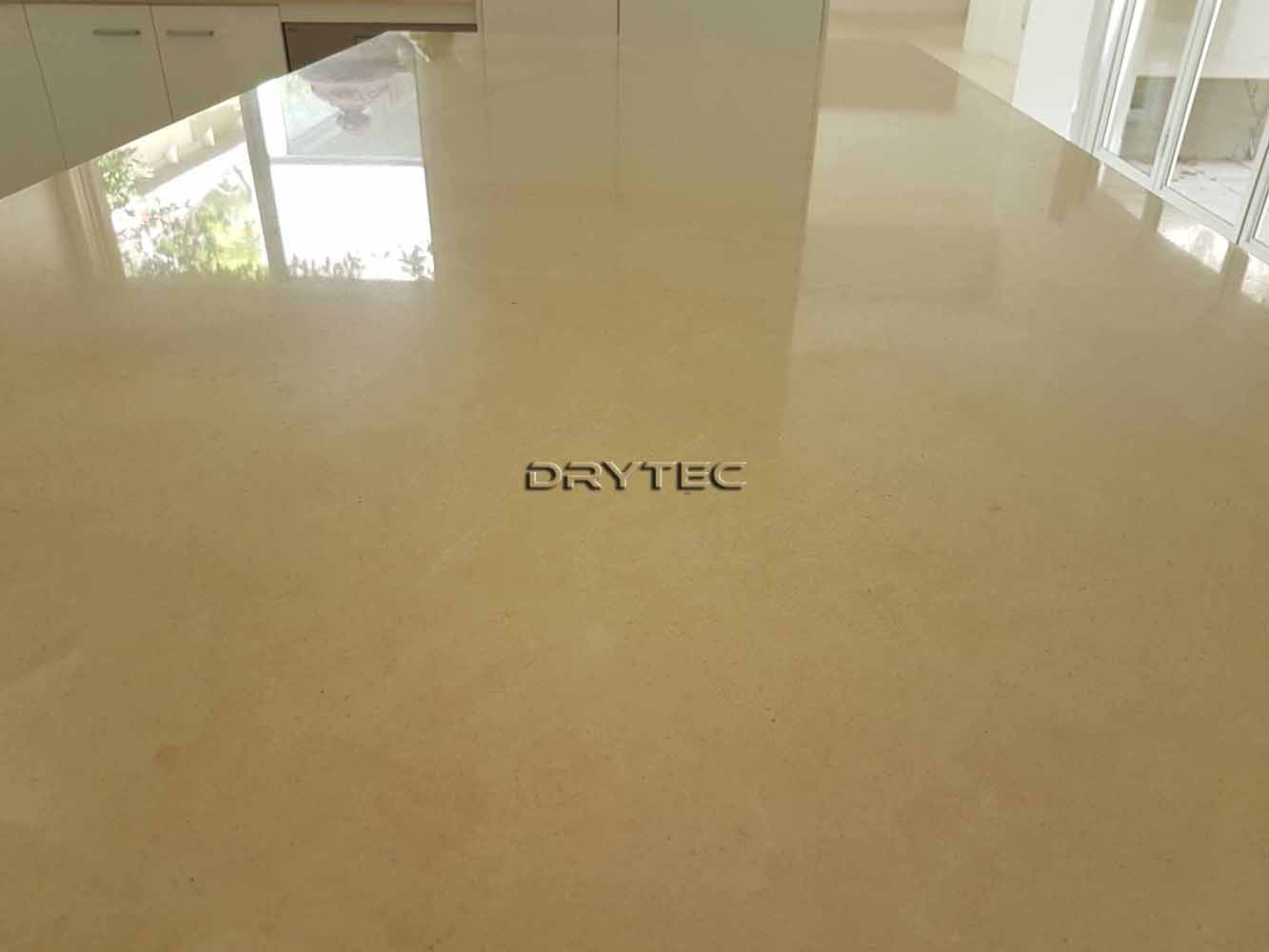 Limestone Bench top Restoration-Chip Repairs-Grinding-Honing-Polishing-Cleaning and Sealing in Perth WA