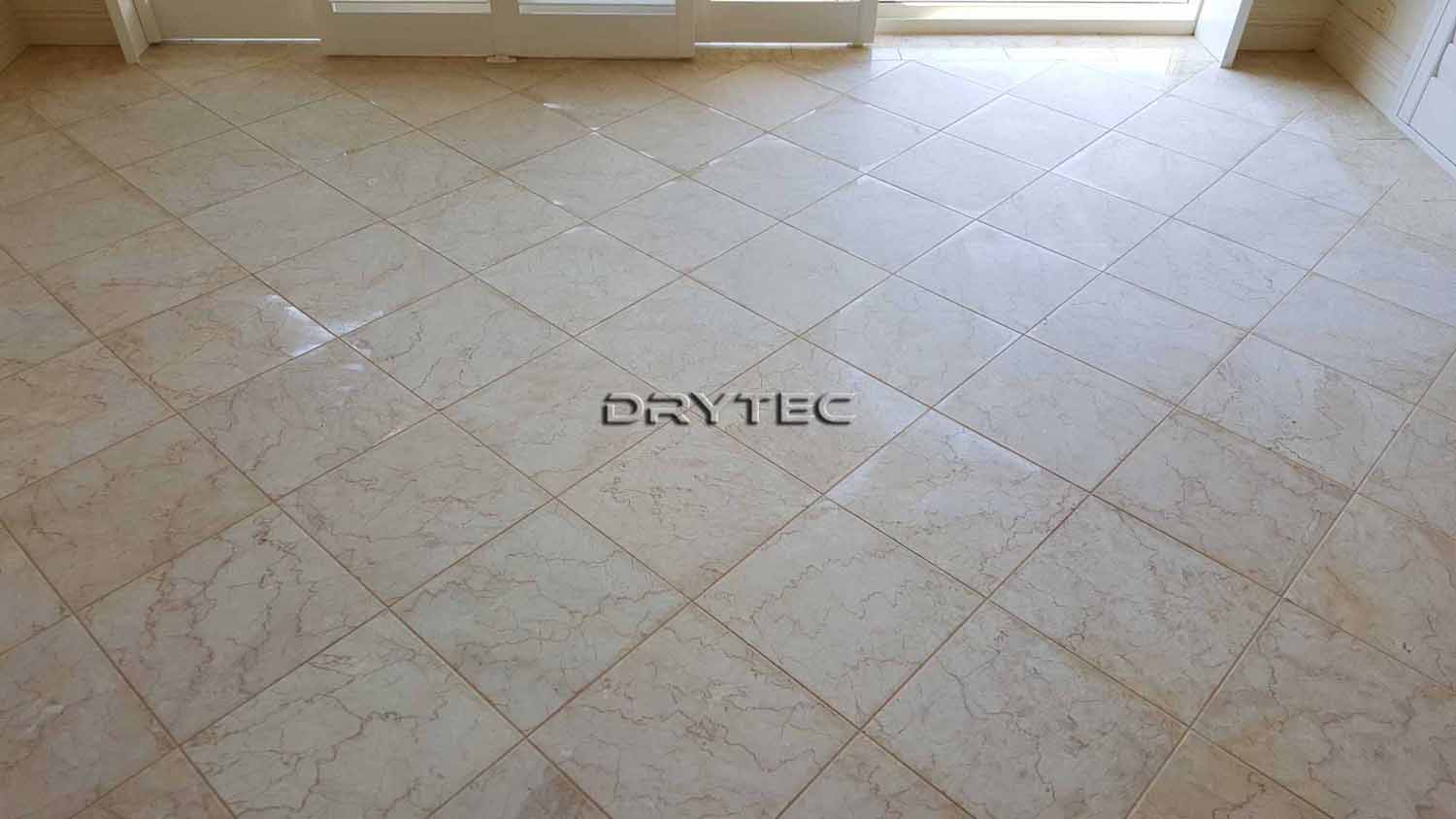 Marble Floor Tiles Restoration-Grinding-Honing-Polishing-Cleaning and Sealing