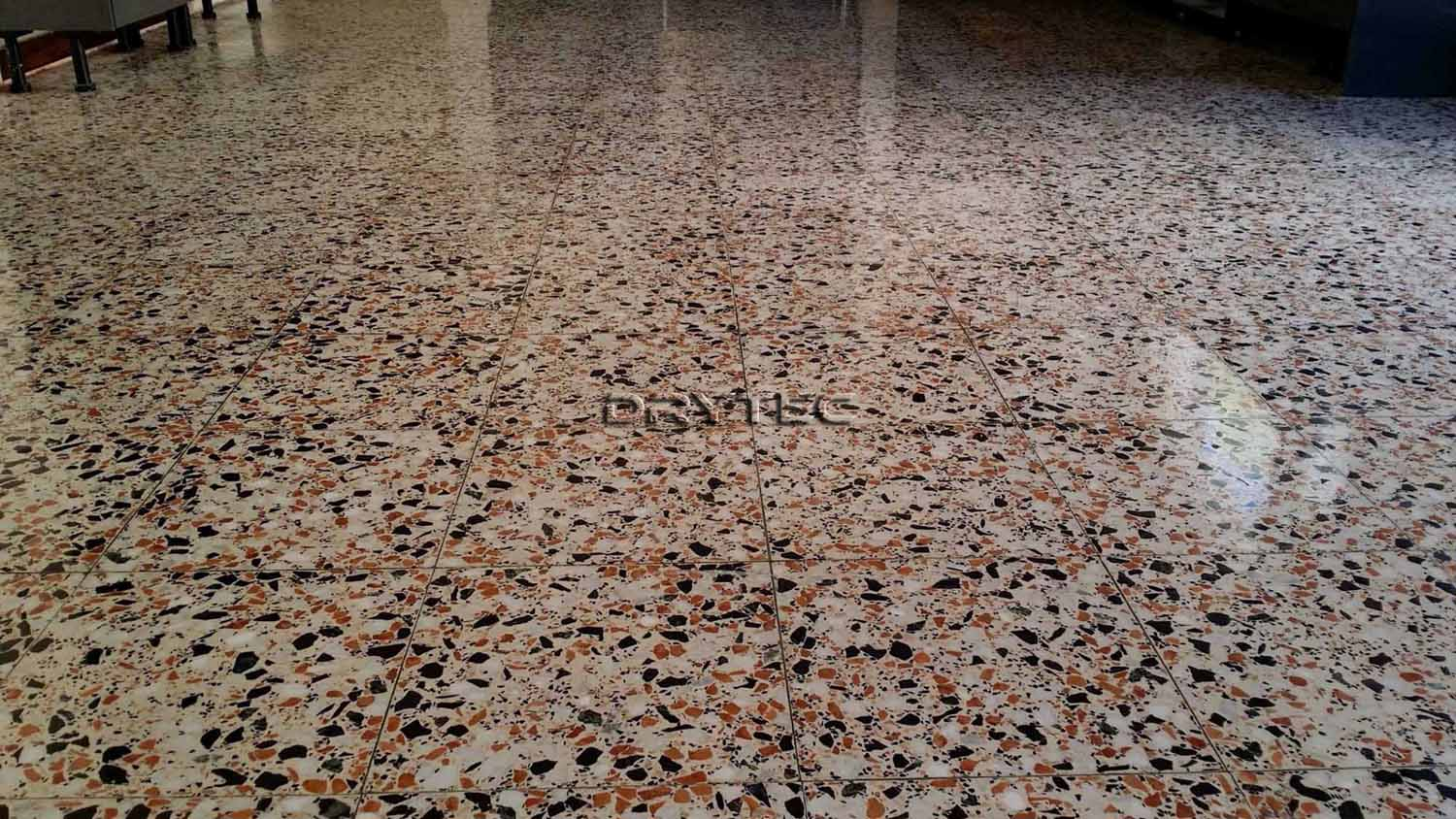 Terrazzo Floor Tiles Restoration-Grinding-Honing-Polishing-Cleaning and Sealing Service in Perth WA