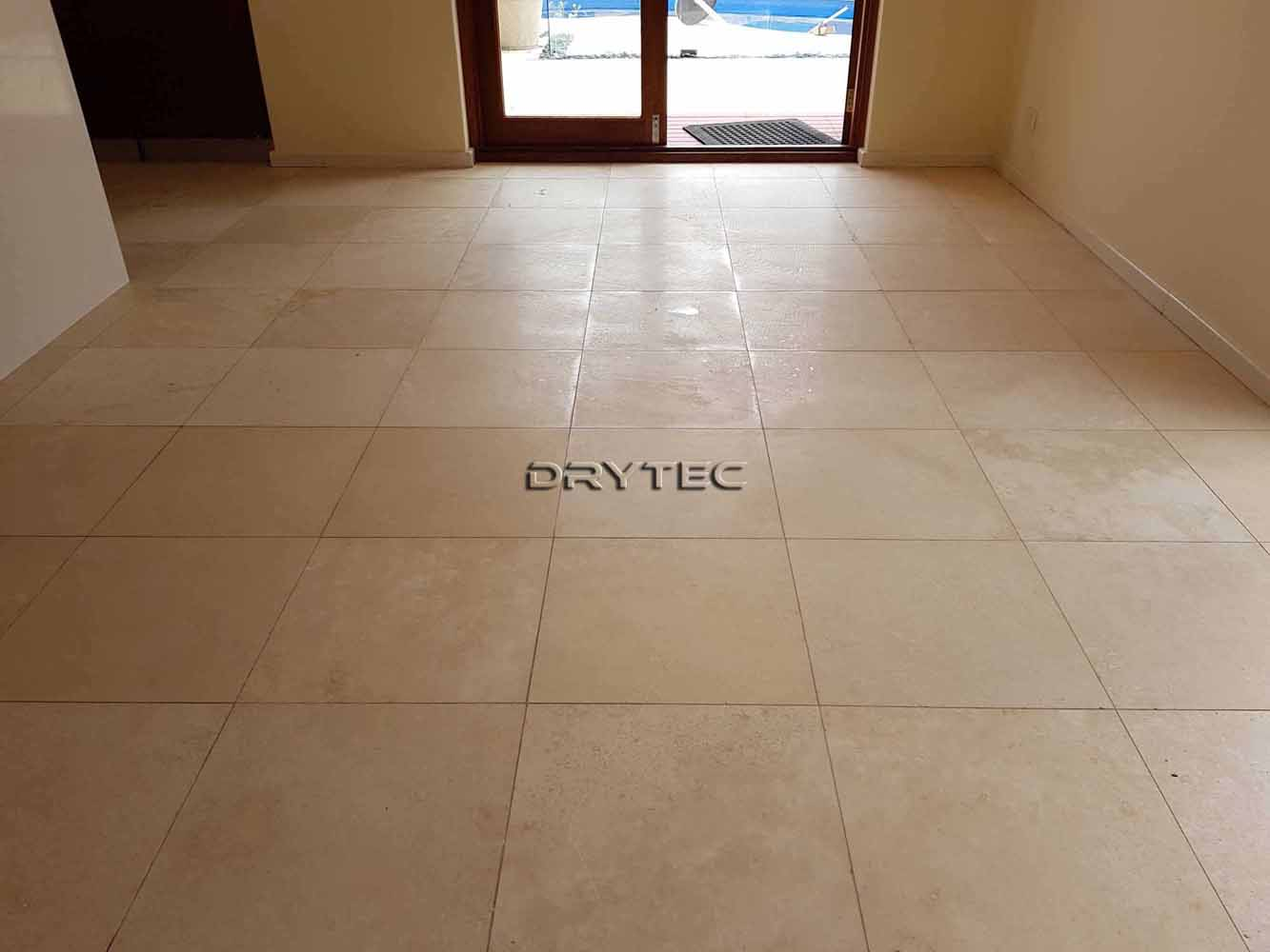 Travertine Floor Tiles Restoration-Grinding-Honing-Polishing-Cleaning and Sealing Service in Perth WA
